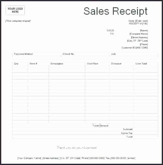 Sales Receipt Template Microsoft Word Fresh Printable Sales Invoice Template Five Mon