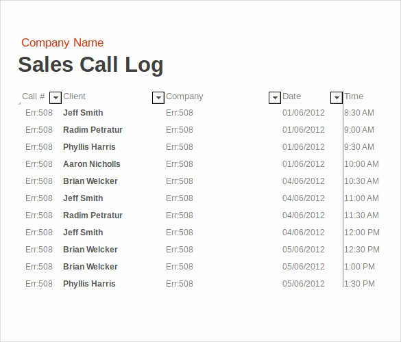 Sales Rep Activity Report Template Awesome 14 Sales Call Report Samples