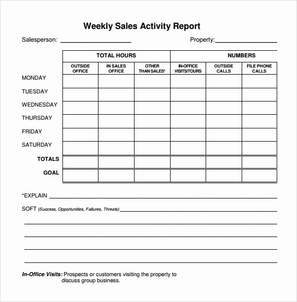 Sales Rep Activity Report Template Awesome 22 Sample Weekly Report Templates – Pdf Word Pages