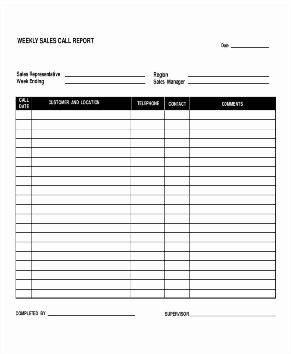 Sales Rep Activity Report Template Beautiful 5 Daily Call Report Templates 6 Free Word Pdf format