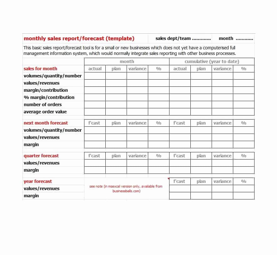 Sales Rep Activity Report Template Elegant 45 Sales Report Templates [daily Weekly Monthly Salesman