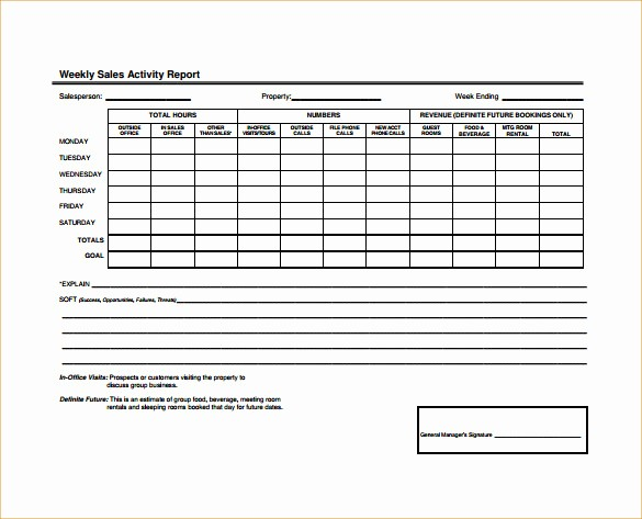 Sales Rep Activity Report Template Inspirational 25 Sales Activity Report Templates Word Excel Pdf