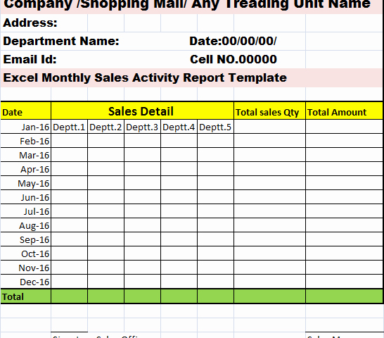 Sales Rep Activity Report Template New Monthly Sales Activity Report Template – Free Report Templates