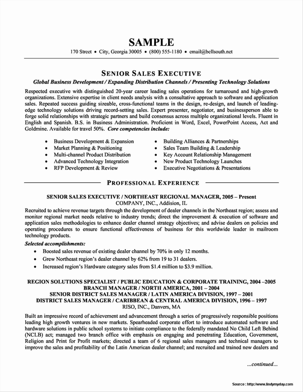 Sales Resume Template Microsoft Word Best Of Free Templates