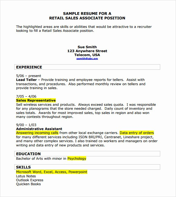 Sales Resume Template Microsoft Word Unique 10 Sample Sales Resume Templates to Download