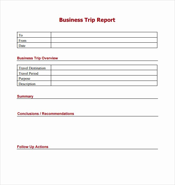 Sales Visit Report Template Word Unique 8 Trip Report Templates – Samples Examples & formats