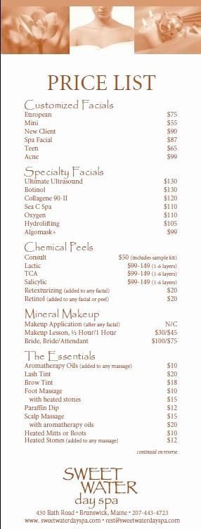 Salon Menu Templates Microsoft Word Elegant 10 Free Sample Spa Price List Templates Printable Samples