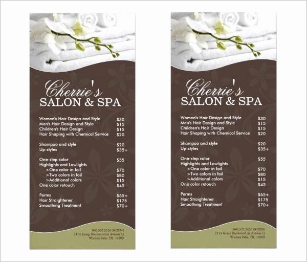 Salon Menu Templates Microsoft Word Elegant 22 Spa Menu Templates Psd Eps