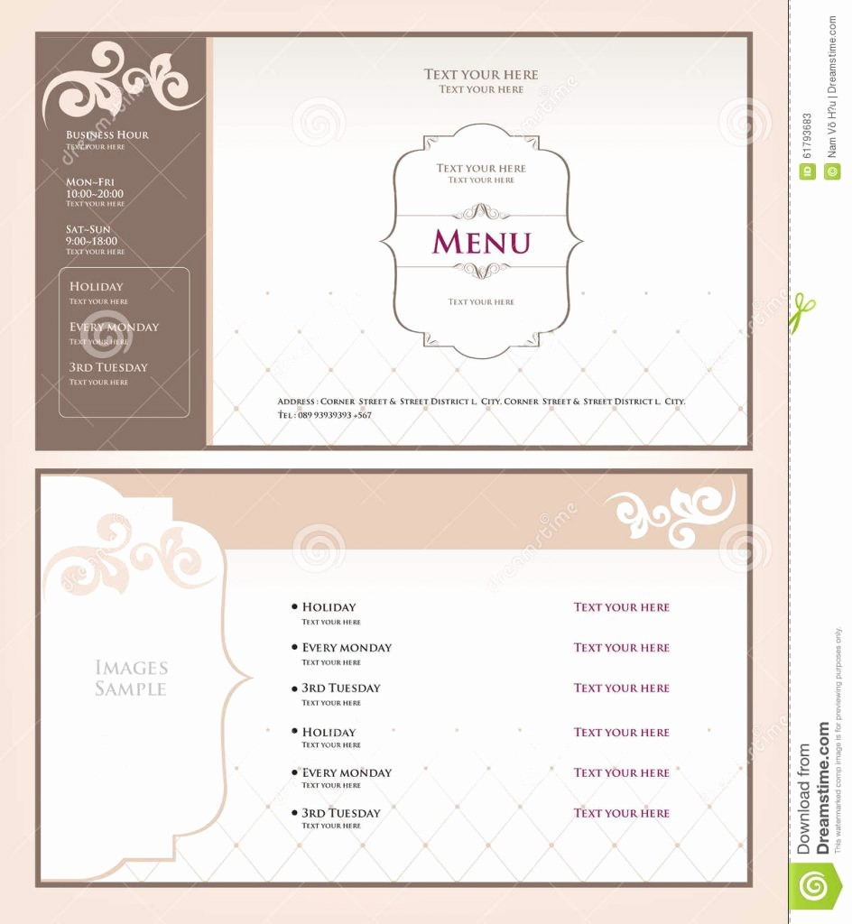 Salon Menu Templates Microsoft Word Luxury Menu Spa Menu Templates