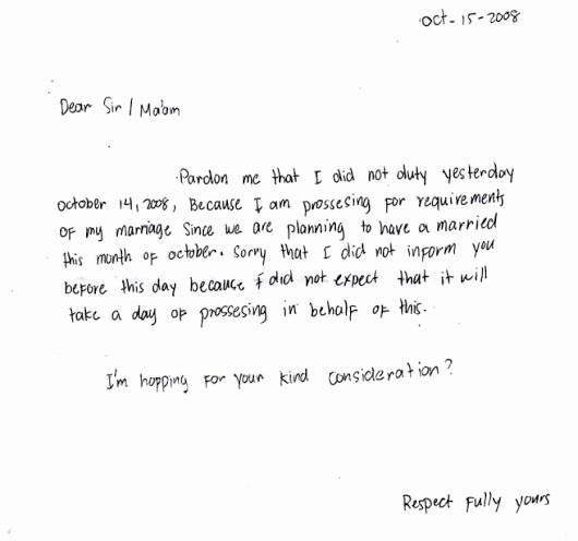Sample Absence Letter to Teacher Lovely Write Letter to Teacher for Absent Letter Letter Sample