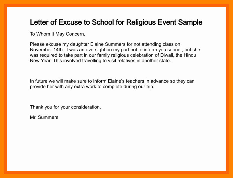 Sample Absence Letter to Teacher Luxury 11 How to Write A Absent Letter to Teacher