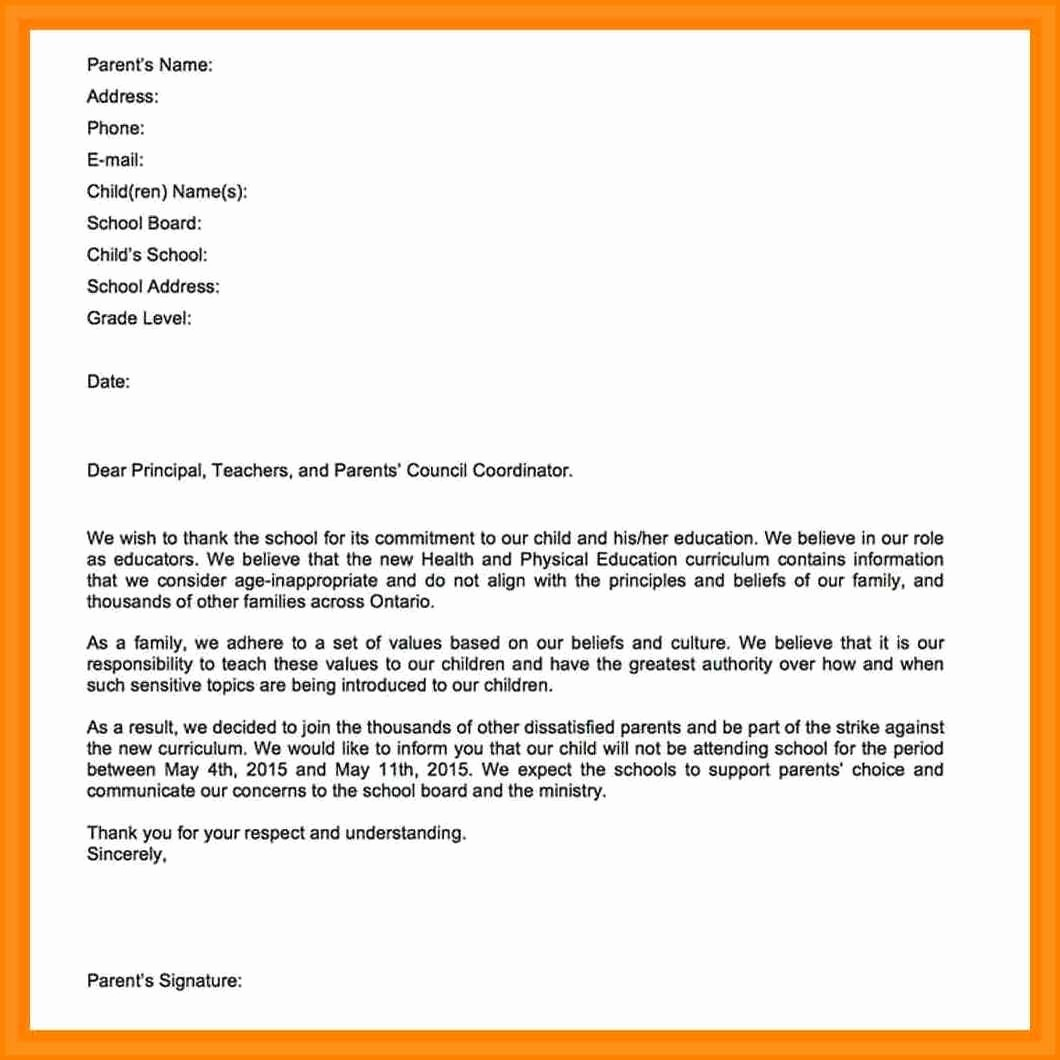 Sample Absence Letter to Teacher New 11 How to Write A Absent Letter to Teacher