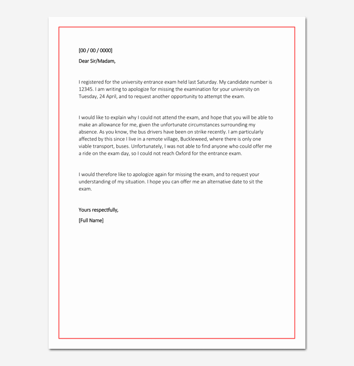 Sample Absence Letter to Teacher Unique Apology Letter for Being Absent In School Sample & format
