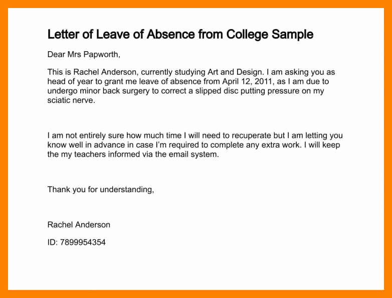 Sample Absence Letter to Teacher Unique How to Write Absent Letter to Teacher Lication for