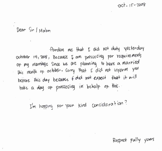 Sample Absent Letter to Teacher Best Of Write Letter to Teacher for Absent Letter Letter Sample