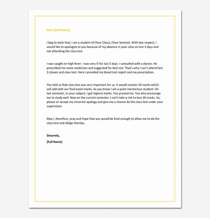 Sample Absent Letter to Teacher Lovely Apology Letter to Teacher How to Write with format