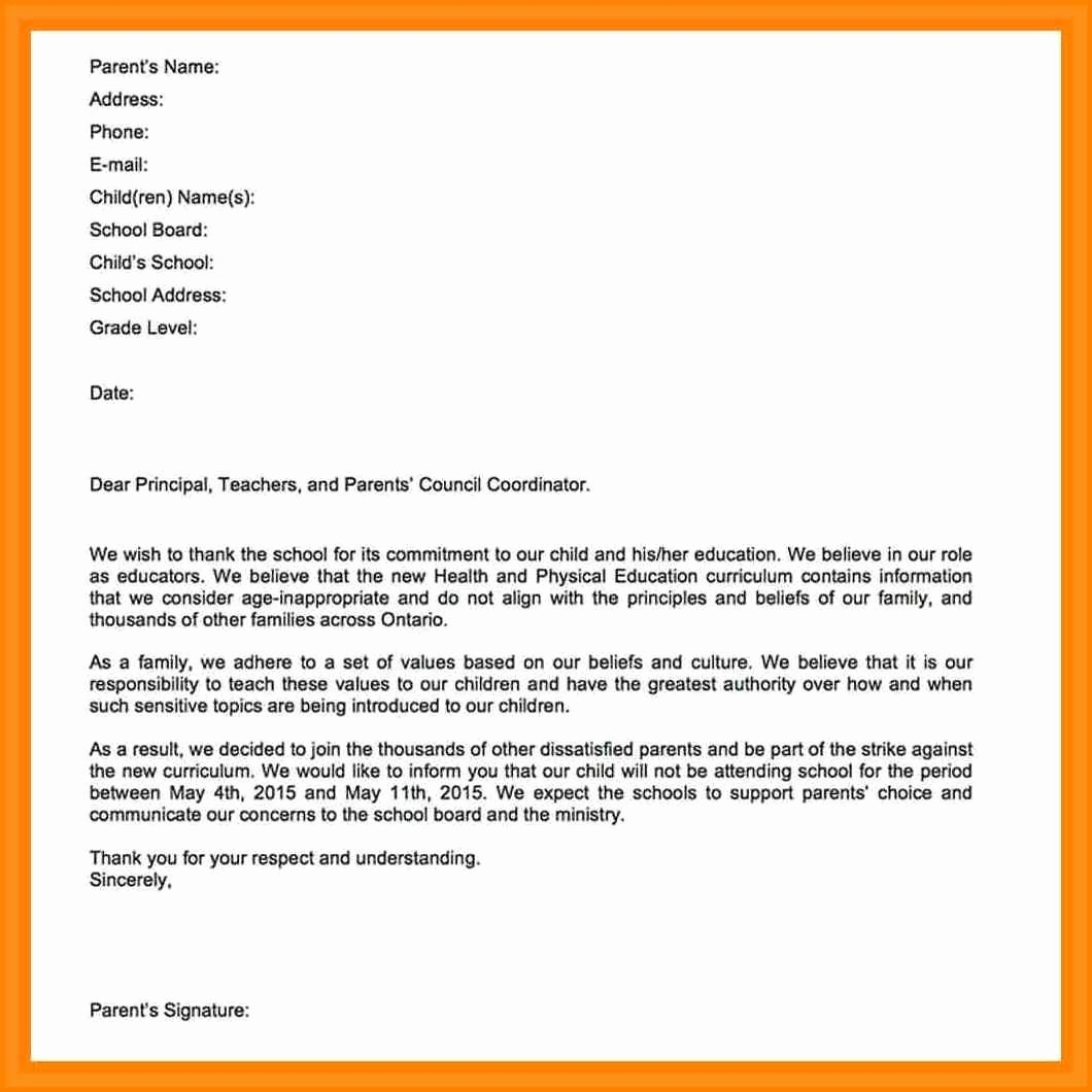 Sample Absent Letter to Teacher Unique Absence Letter to Professor Design Templates