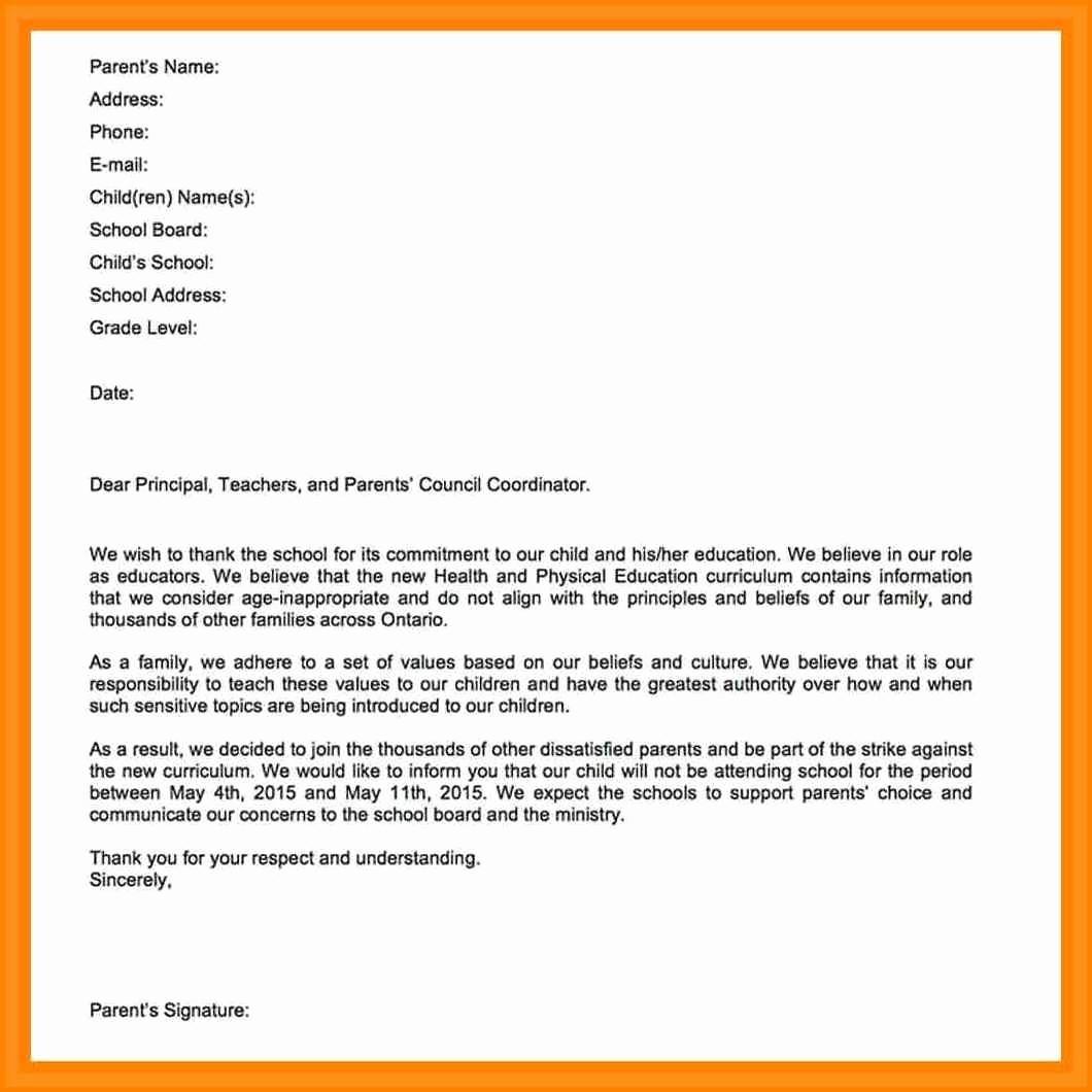 Sample Absent Letter to Teacher Unique Absence Letter to Professor Design Templates
