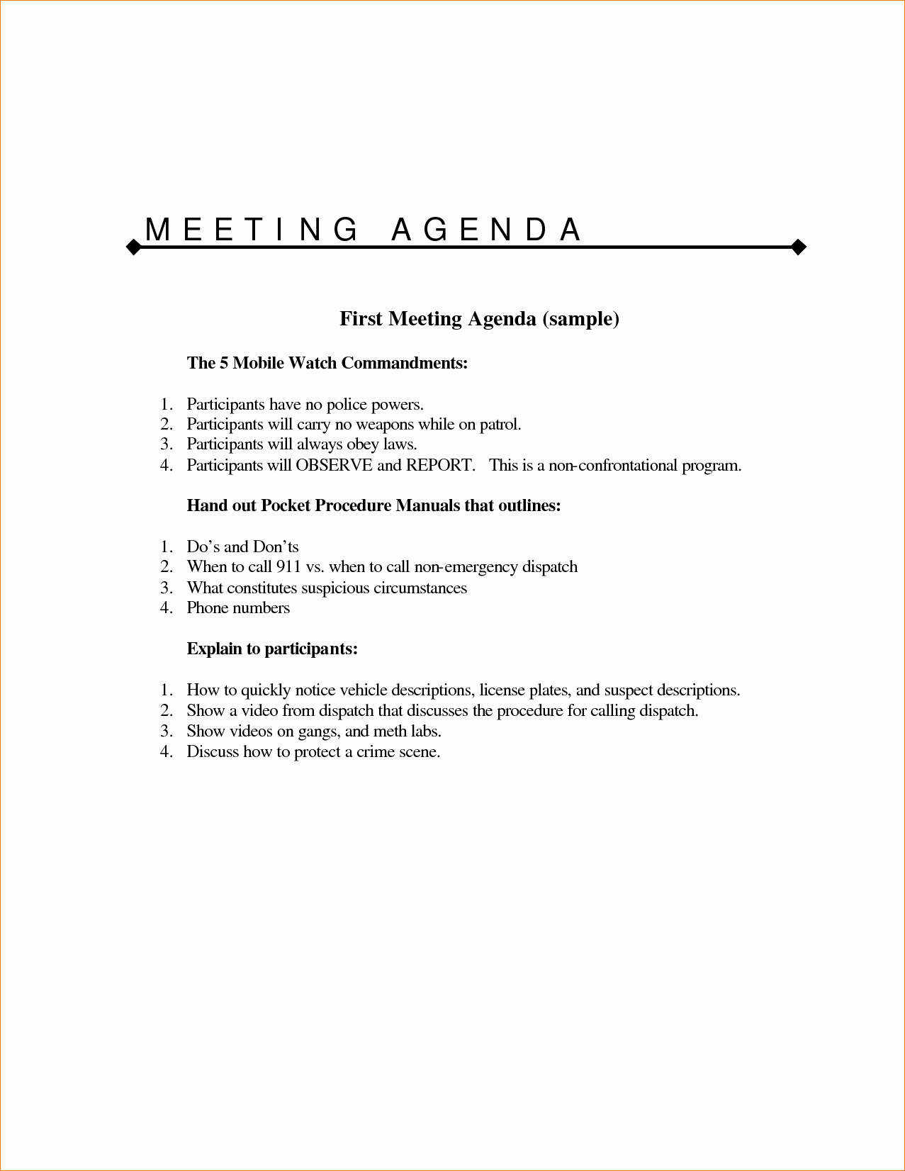 Sample Agenda for A Meeting New 11 Meeting Agenda Sampleagenda Template Sample