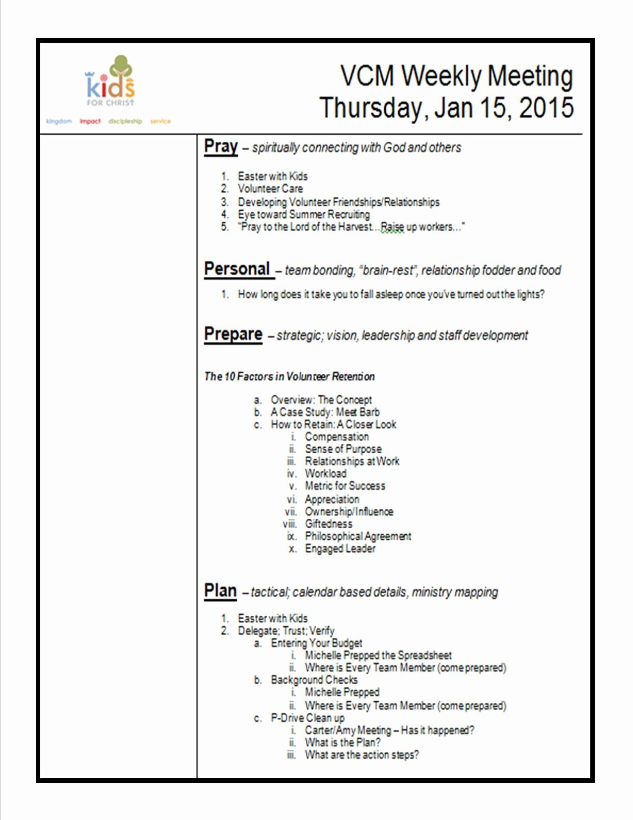 Sample Agenda for A Meeting Unique How to Create A Meeting Agenda Kidminscience