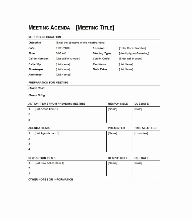 Sample Agenda for A Meeting Unique Simple Meeting Agenda Template Sample Featuring