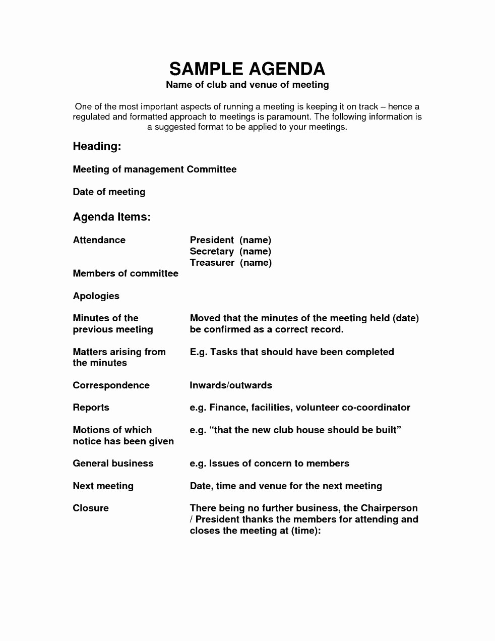 Sample Agenda Template for Meeting Elegant Agenda Template Word Example Mughals