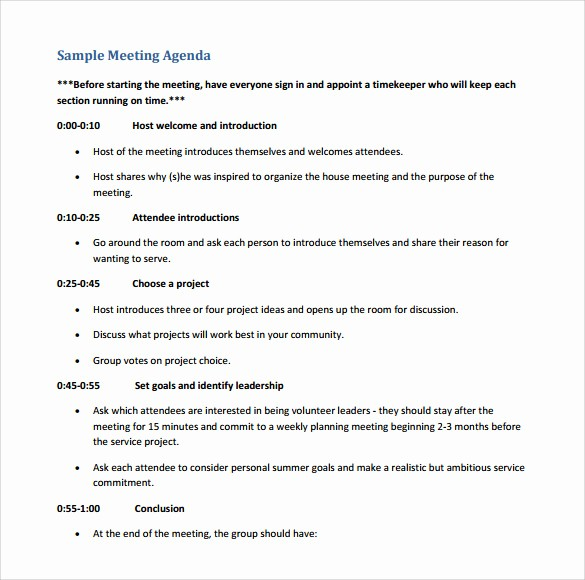 Sample Agenda Template for Meeting Fresh 12 Sample Board Meeting Agenda Templates