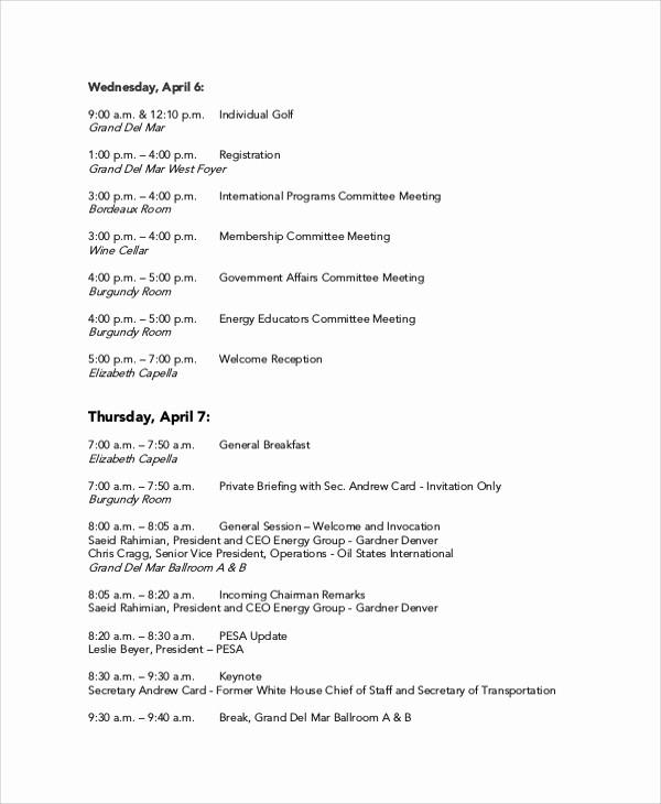 Sample Agenda Templates for Meetings Beautiful 20 Meeting Agenda Samples