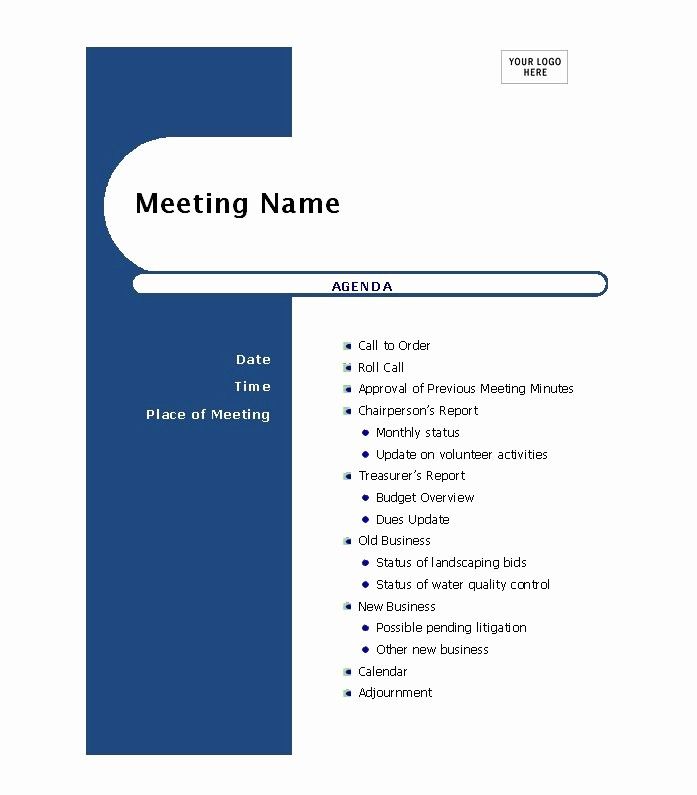 Sample Agendas for Business Meetings Awesome 46 Effective Meeting Agenda Templates Template Lab