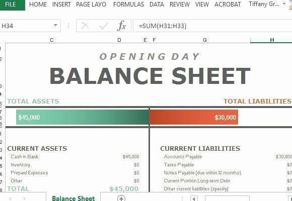 Sample Balance Sheet format Excel Best Of Corporate Balance Sheet Template Financial Sample Opening