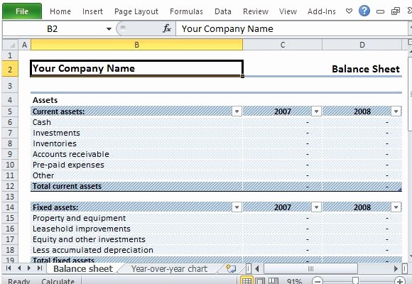 Sample Balance Sheet format Excel Fresh Download Editable Sample Balance Sheet for Excel