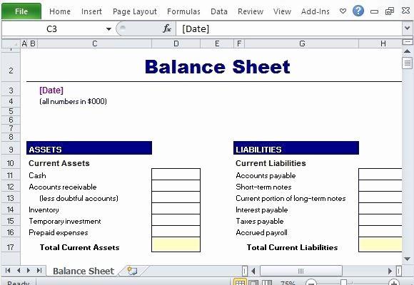 Sample Balance Sheet format Excel Fresh Simple Balance Sheet Maker Template for Excel