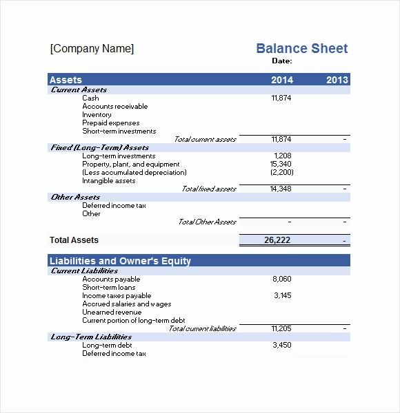 Sample Balance Sheet format Excel Inspirational 10 Financial Plan Samples