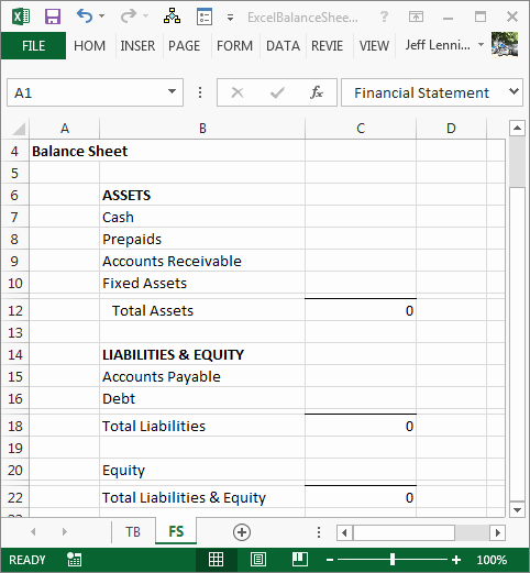 Sample Balance Sheet format Excel Luxury Create A Balance Sheet with Excel