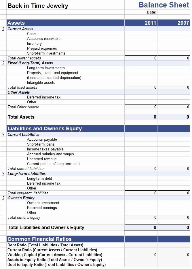 Sample Balance Sheet format Excel New Balance Sheet Excel Template Template Sample