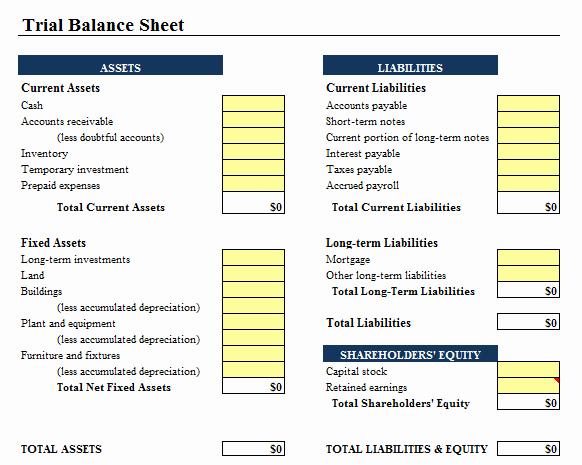 Sample Balance Sheet format Excel Unique 9 Balance Sheet formats In Excel Excel Templates