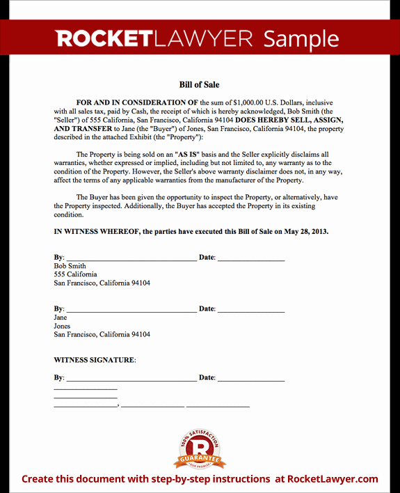 Sample Bill Of Sale Automobile Inspirational Bill Of Sale form Printable Car & Vehicle Bill Of Sale