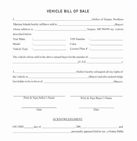 Sample Bill Of Sale Automobile New 15 Vehicle Bill Of Sale Utah