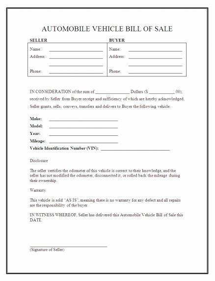 Sample Bill Of Sale Motorcycle Elegant Bill Sale Motorcycle Template Sample Worksheets Va Dmv
