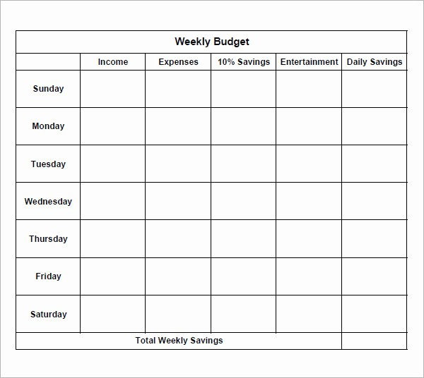 Sample Budget Template for Teenager Awesome 8 Examples Of Bi Weekly Bud Templates