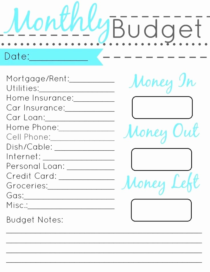 Sample Budget Template for Teenager Lovely Displaying Monthly Bud Printable Set
