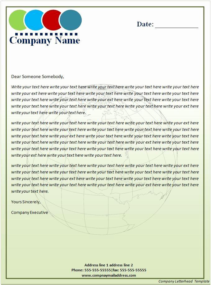 Sample Business Letter On Letterhead Beautiful 17 Pany Letterhead Templates Excel Pdf formats