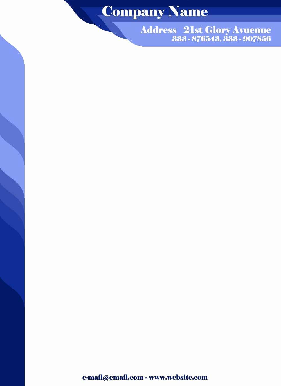 Sample Business Letter On Letterhead Beautiful Sample Pany Letter Head Pad