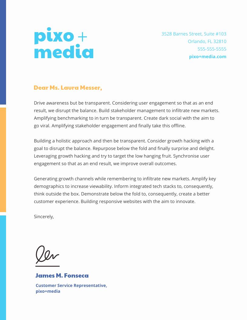 Sample Business Letter On Letterhead Fresh 15 Professional Business Letterhead Templates and Design