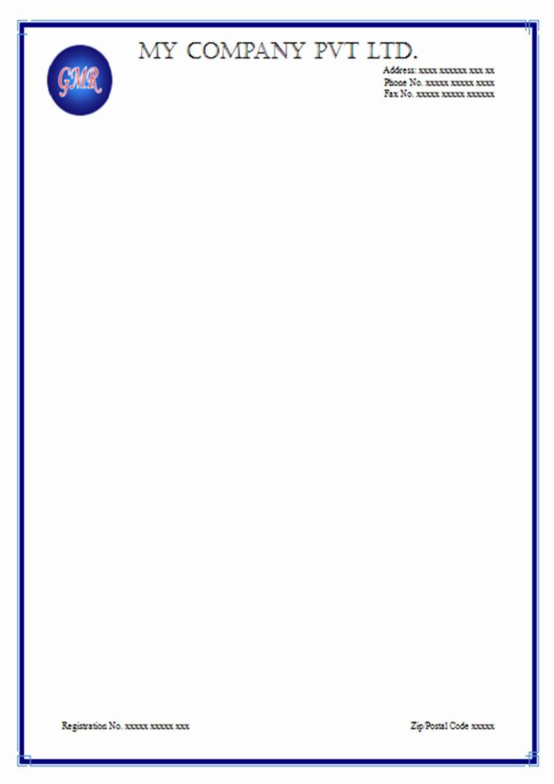 Sample Business Letter On Letterhead Fresh Free Letterhead Sample Templates and Use