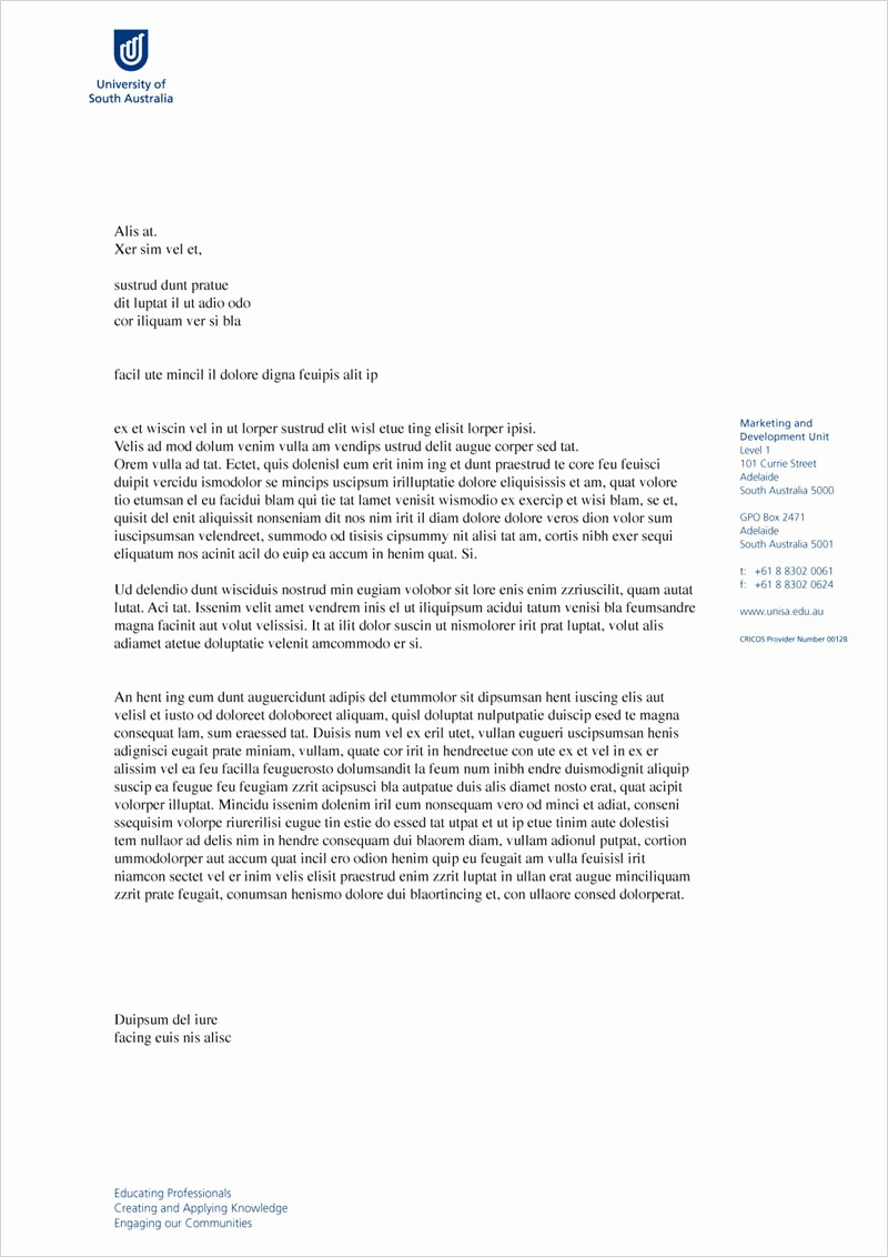 Sample Business Letter On Letterhead Fresh Sample Letterhead