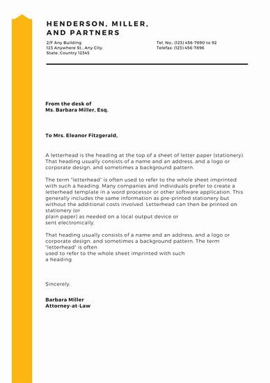 Sample Business Letter On Letterhead Inspirational Customize 178 Business Letterhead Templates Online Canva