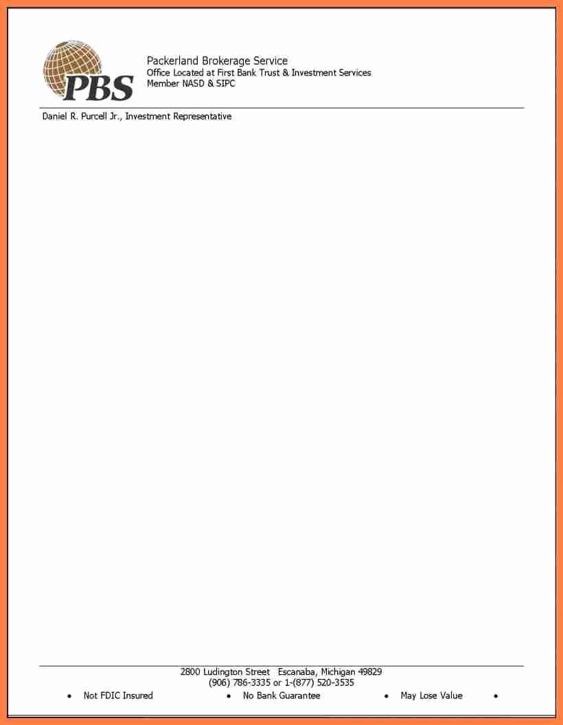 Sample Business Letter On Letterhead Lovely 18 Letter Head Samples