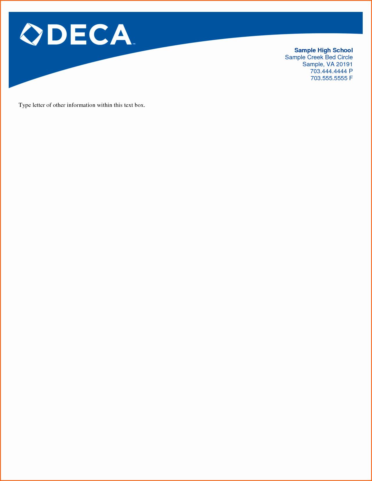 Sample Business Letter On Letterhead New Business Letterhead format Example Mughals