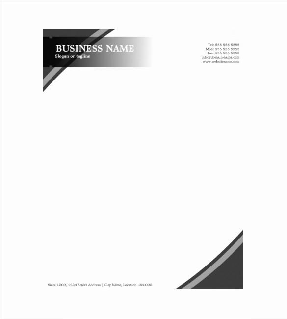 Sample Business Letter On Letterhead Unique 10 Construction Pany Letterhead Templates Free